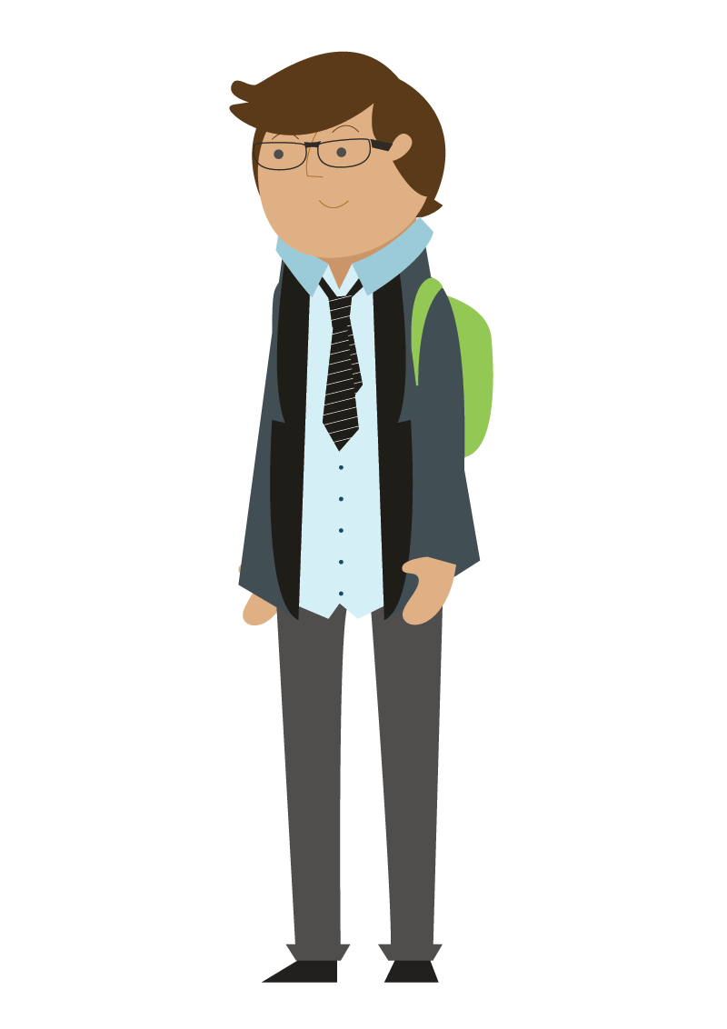 Illustration of a schoolboy
