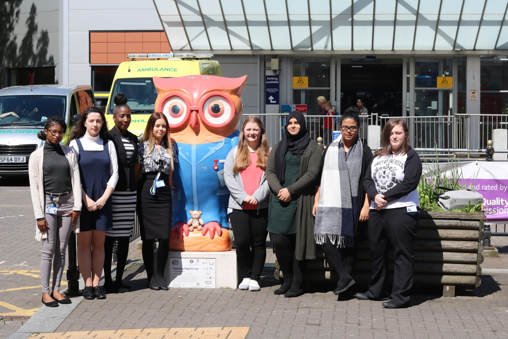Apprentices with one of the Big Hoot Owl