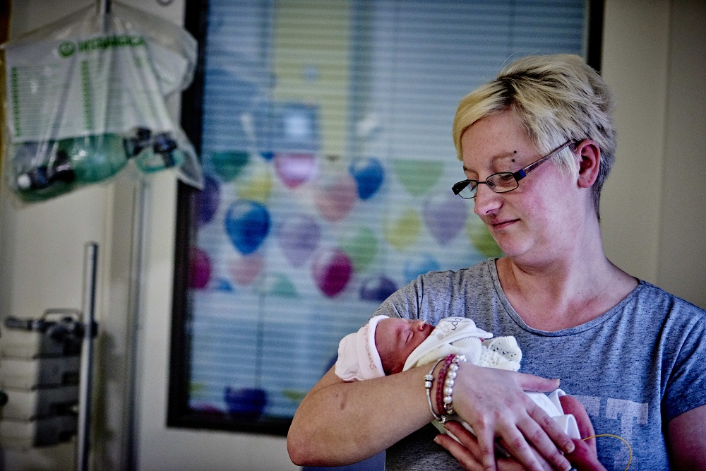 A mother with her baby on our NICU