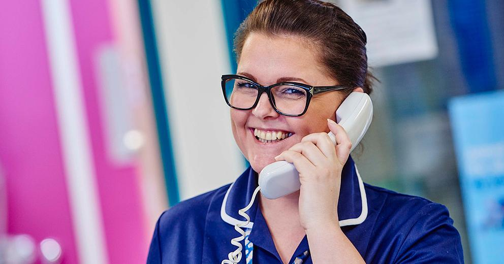 staff image - nurse on the phone